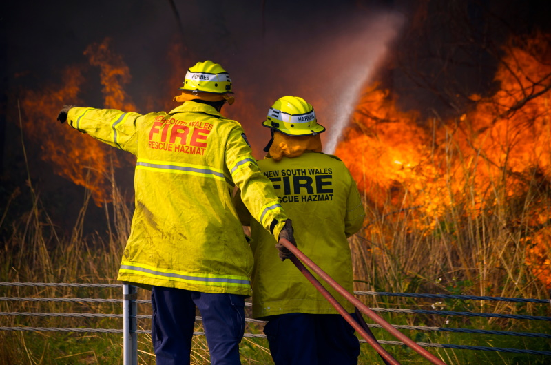 Firefighters fighting the Australian bushfires