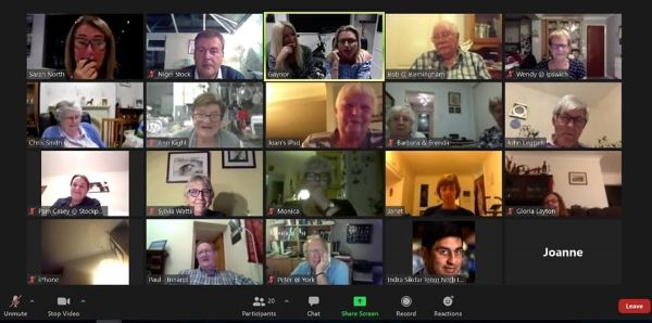 A screengrab of an Oddfellows event happening on Zoom