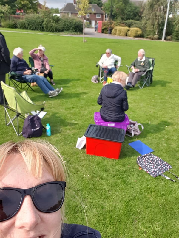Derbyshire Peak's Social Organiser snaps a selfie during their socially-distanced picnic in the park